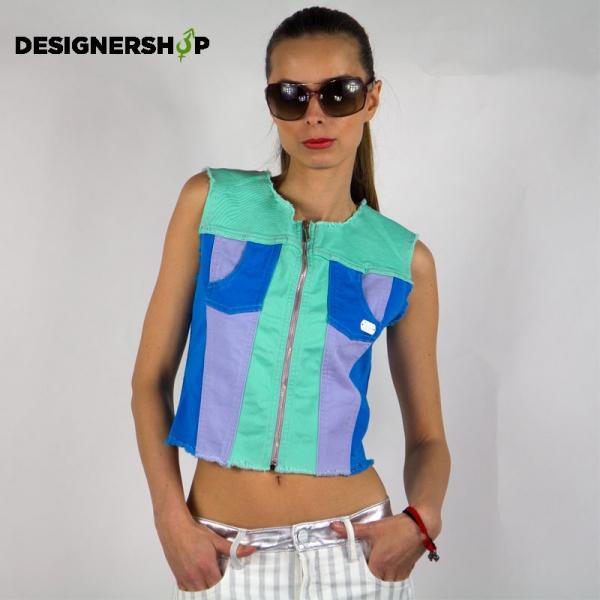 Met in Jeans farebná dámska vesta Bibo - designershop 54470f7f79d