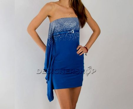 Relish modré šaty s trblietkami Guava - designershop c8b824b2c5a
