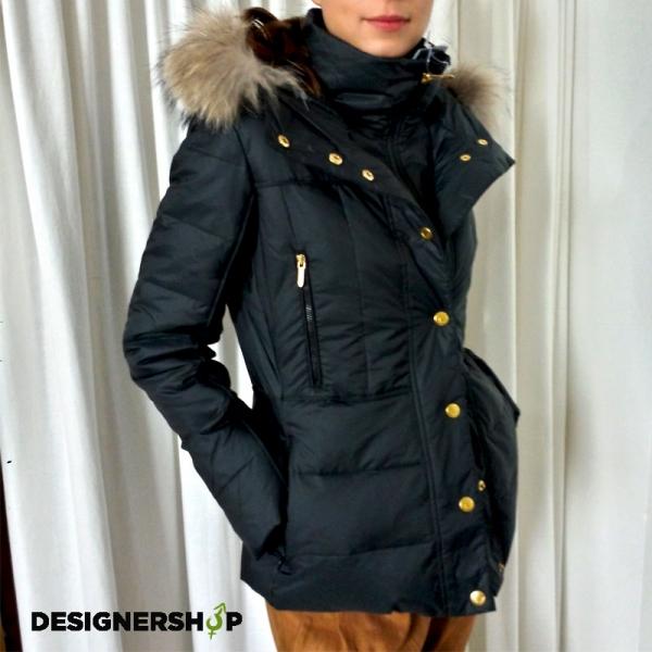 Bosideng čierna zimná páperová bunda s kožušinou - designershop b472eb484b7