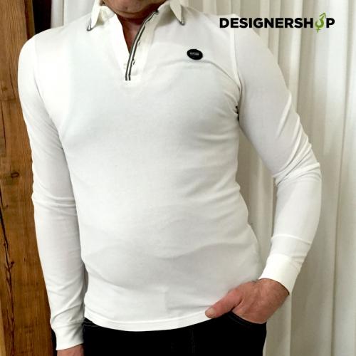 Gaudi pánske tričko biele dlhý rukáv - designershop c924c23d8a4