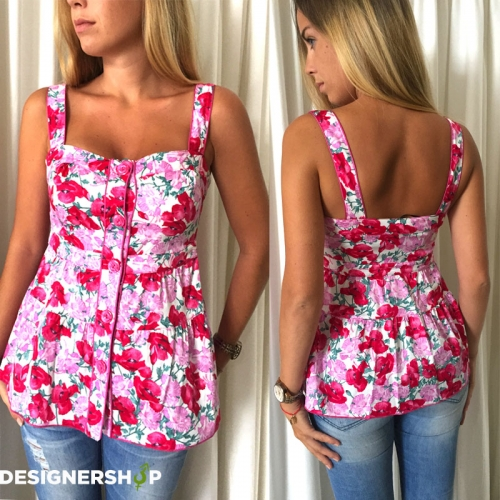 0365211506 Guess by marciano kvetinový top - designershop