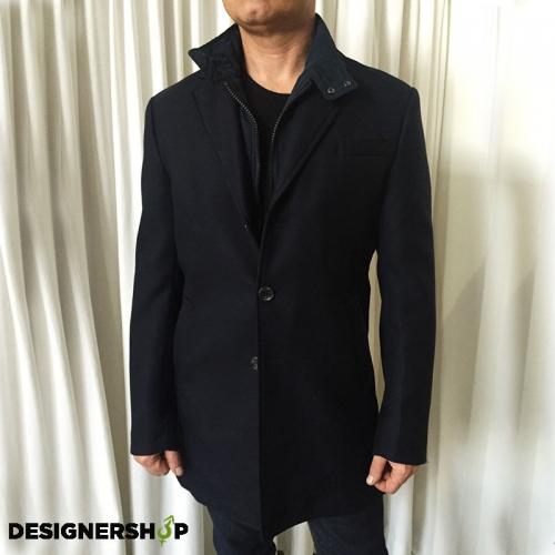 32563287b Guess by Marciano pánsky tmavomodrý vlnený kabát - designershop