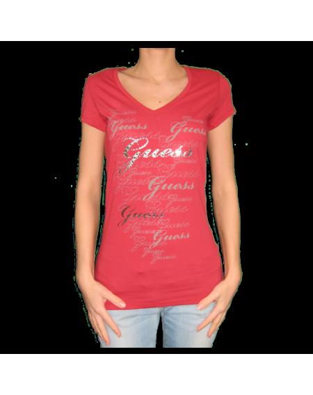 9ac0a28e8fe7 Guess červené dámske tričko v.M - designershop