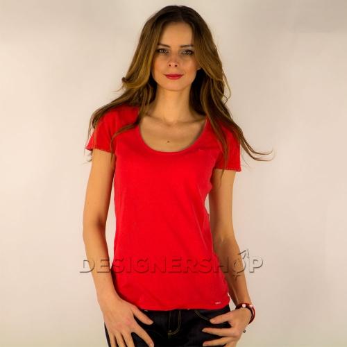 d7bfde8806e7 Guess dámske tričko v koralovo červenej farbe - designershop