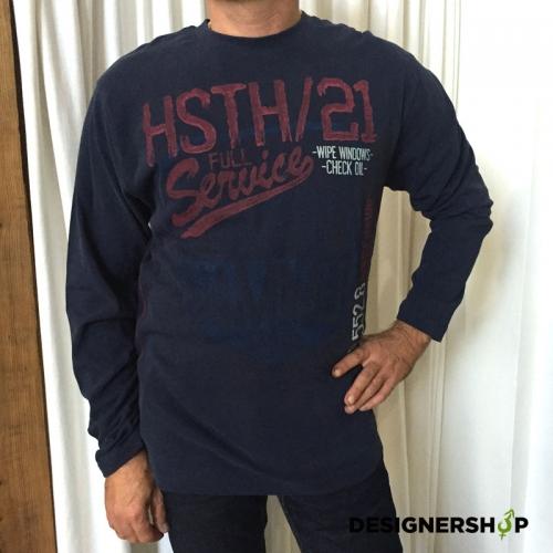 d4ff9be7345f Hammersmith pánske modré tričko s potlačou - designershop