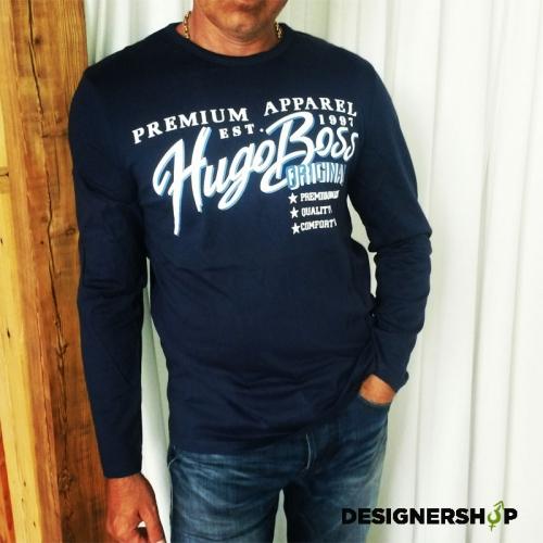 Hugo Boss tmavomodré pánske tričko green line - designershop f302ac2acb1