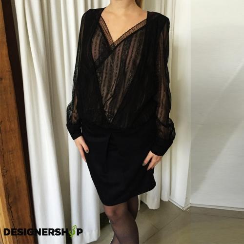 Liu jo čierne šaty s krajkou - designershop 798034b56ac