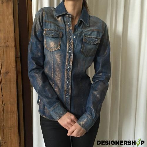 Met in Jeans riflová košeľa Lurex - designershop cfa1f6b69e1