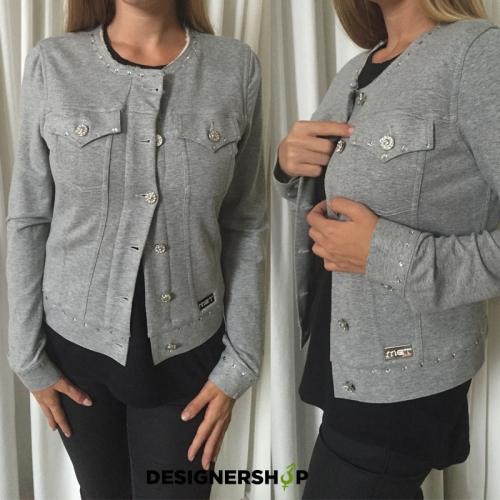 62549a063c62 Met in Jeans sivá zateplená mikina BENTLEY JK - designershop