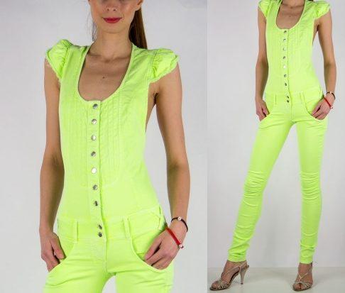 Met in Jeans zelený neonovy overal X-Curly Su v.25 - designershop 3e76cb50a53