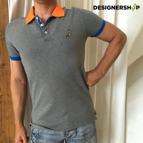 Pepe jeans pánske sivé polo tričko s potlačou - designershop 22babd962ec