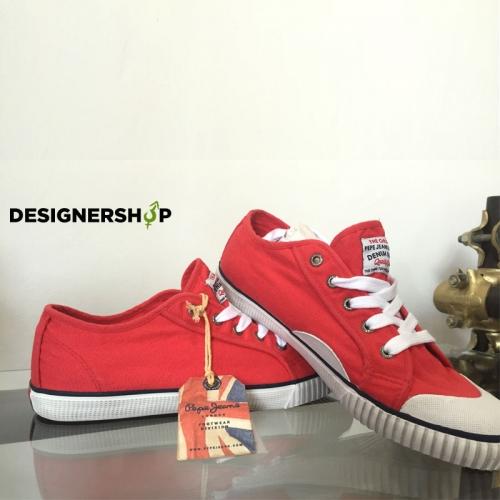 b06a90469b Pepe Jeans červené pánske plátené tenisky - designershop