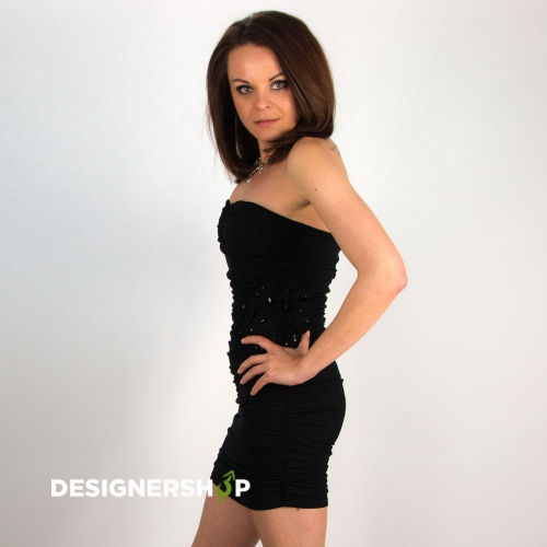 Relish čierne elastické mini šaty Afef - designershop 4183aea10e7