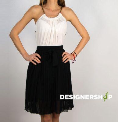 4dbe1e596821 Relish čierno biele šaty s retiazkou okolo krku Nero - designershop