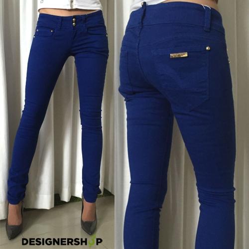 1f4d26eaf5a0 Relish modré nohavice Yasmine v.24 - designershop