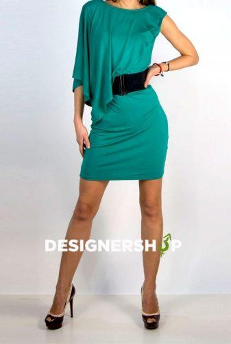 c8d6db6553 Relish zelené elastické šaty s čiernym opaskom Caren - designershop