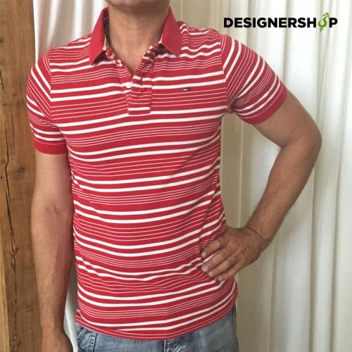 7a7ab55d53b0 Tommy Hilfiger červené pánske polo tričko v. M - designershop