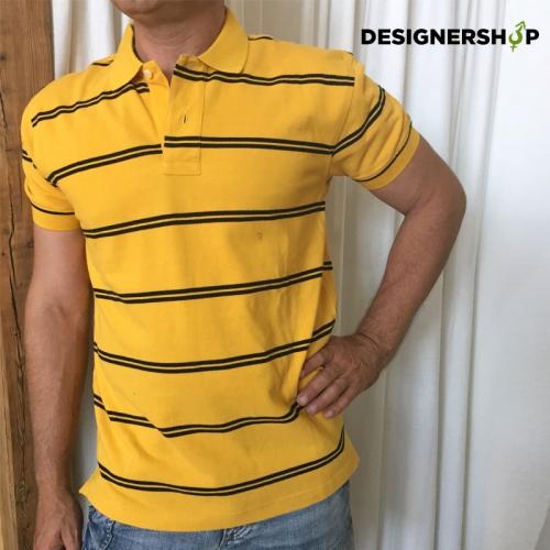 Tommy Hilfiger žlté pruhované polo tričko v.M - designershop 14dd1c85d1d