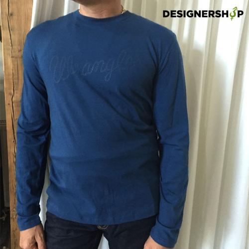 Wrangler pánske modré tričko - designershop 225d4a8f9a5
