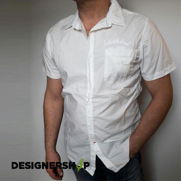 Guess pánska biela košeľa - Designershop outlet so značkovým oblečením a  doplnkami 3d0b90674bc