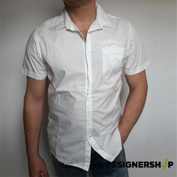 10043f112e Guess pánska biela košeľa - Designershop outlet so značkovým ...