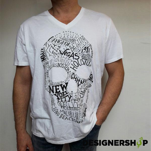 Guess pánske tričko s lebkou - Designershop outlet značkového ... 1b116a5fa0f